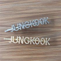 kpop BTS Hairpins V SUGA JIMIN JIN Pearl Letter Modeling Hair Clips Hair Accessories Bangs Clips Cute Headwear
