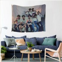 KPOP BTS Tapestry Bangtan Boys Bedroom V JIN JUNGKOOK Decor Wall Hanging Blanket