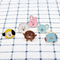 KPOP BTS Ring Cartoon Anime TATA CHIMMY COOKY Finger Rings Koya Mang