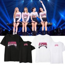 KPOP BLACKPINK T-shirt Concert Kill This Love LISA ROSE JISOO Tshirt Tops Tee