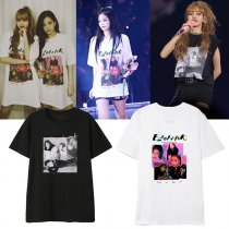 Kpop BLACKPINK Concert Same T-shirt Unisex Tshirt LISA ROSE JENNIE JISOO New
