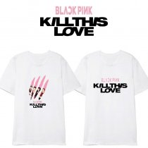 K-pop BLACKPINK T-shirt Kill This Love LISA ROSE JISOO Tshirt Tops Concert Same Tee