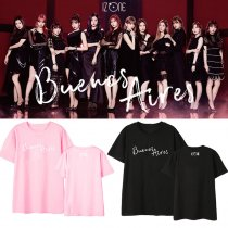 KPOP IZONE T-shirt IZONE's theme song Buenos Aires has been the same short-sleeved T-shirt