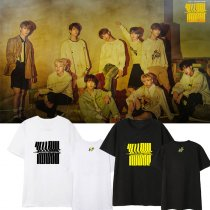KPOP Straykids T-shirt  combination album Yellow Wood around should sing the same short-sleeved men and women T-shirt