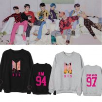 KPOP BTS Sweater Bangtan boys MAP OF THE SOUL PERSONA album  the same round neck sweater