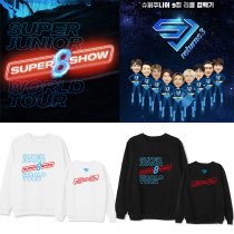 Kpop SUPER JUNIOR sweater World Tour Concert SUPER SHOW 8 the same paragraph round neck sweater
