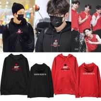 Kpop GOT7 sweater SEVEN SECRETS concert with the same sweater hooded hoodie plus velvet thin men and women sweatshirt