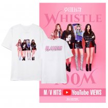 Kpop BLACKPINK short-sleeved T-shirt new Korean version of the loose bottoming shirt fashion print shirt