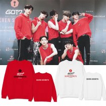 Kpop GOT7 sweater SEVEN SECRETS concert with the same paragraph loose round neck sweater men and women round neck sweater