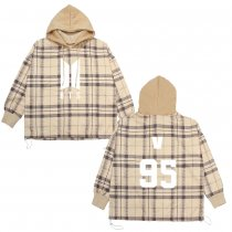 Kpop BTS sweater Bangtan boys hoodie new women's mosaic plaid high collar long sleeve jacket V,JIN,JIMIN,JUNG KOOK