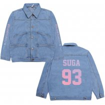 Kpop BTS Bangtan boys denim jacket Korean version of the wild couples men and women students spring and autumn