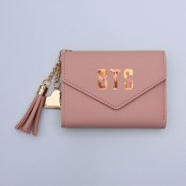 Kpop BTS Bangtan Boys Wallet Tassel Pendant Multicolor Wallet Clip Card Case Coin Purse