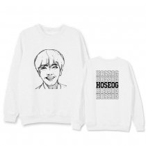 Kpop BTS Sweater Bangtan Boys Sweatshirt Round neck sweater  SUGA JIN  JUNG KOOK