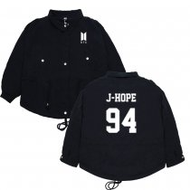 Kpop BTS Jacket Bangtan Boys Name LOGO Top Jacket V JIN JIMIN JUNG KOOK