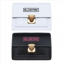Kpop BLACKPINK Shoulder Bag Korean Edition Wild Simple Crossbody Cute Student Mini Black and White Small Square Bag