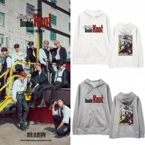 Kpop Stray Kids Around Sweater Double Knot New Album Hooded Sweater Coat
