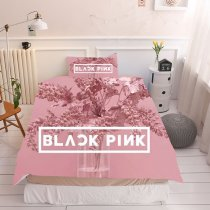 3Pcs/Set BLACKPINK  Pillow Case Quilt Cover Bedding Sheet sheets pillowcases creative bedding wholesale