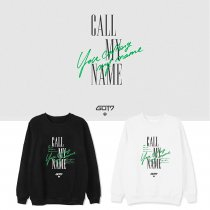 Kpop GOT7 Sweater Album Call My Name The same Paragraph Round Neck Sweater Loose Round Neck Pullover Sweater