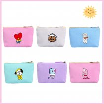 Kpop BTS Wallet Bangtan Boys Wallet Cute Card Bag Student Wallet Coin Purse CHIMMY COOKY KOYA