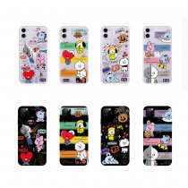 Kpop BTS Mobile Shell Bangtan Boys Case New Applicable iphone11/11Pro Anti-fall Soft Shell