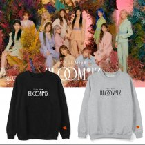 Kpop IZONE Album BLOOMIZ Same Round Neck Sweater Plus Velvet Thin Korean Loose Spring and Autumn Top