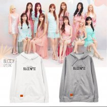 Kpop IZONE Album BLOOMIZ Hooded Sweater Plus Velvet Thin Student Spring and Autumn Coat