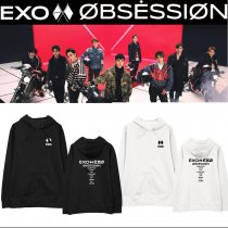 Kpop EXO Sweatshirt Series 6 OBSESSION Hooded Sweatshirt Jacket Plus Velvet Thin Spring and Autumn Hoodie