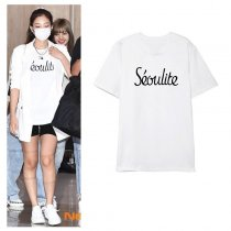 Kpop BLACKPINK T-shirt JENNIE same Short-sleeved Korean Loose T-shirt