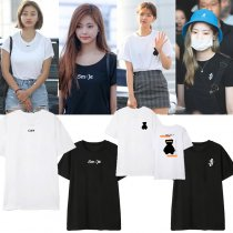Kpop TWICE T-shirt Concert Tzuyu same Short Sleeve Loose T-shirt