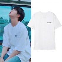 Kpop BTS T-shirt Bangtan Boys JIN the same T-shirt Korean Loose Short Sleeve