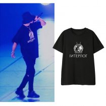 Kpop EXO T-shirt CHANYEOL Concert with the Same Clothes T-shirt Korean Loose Short Sleeve