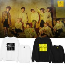 Kpop STRAY KIDS Sweater YELLOW WOOD Same Round Neck Sweater Korean Loose Sweater