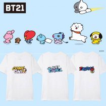 Kpop BTS T-shirt Bangtan Boys Short-sleeved Korean Loose T-shirt CHIMMY COOKY KOYA TATA
