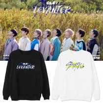 Kpop STRAY KIDS Sweatshirt New Album CléLEVANTER Peripheral Round Neck Sweatshirt Jacket