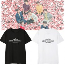 Kpop BTS Bangtan Boys T-shirt World Tour With The Same Short-sleeved T-shirt