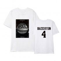 Kpop EXO T-shirt Same Korean Version of Loose Short-sleeved Top Shirt Shirt T-shirt