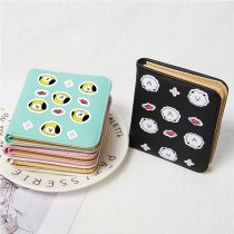 Kpop BTS Wallet Bangtan Boys New Coin Purse Storage Bag Cartoon Cute Student Card Bag Coin Bag