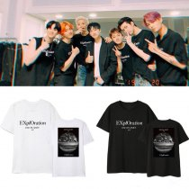 Kpop EXO T-shirt Five Tour Concert Official Same Short-sleeved Korean Loose T-shirt