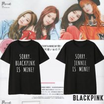 Kpop BLACKPINK T-shirt Same Paragraph Short-sleeved T-shirt Korean Loose Fashion Couple T-shirt Top