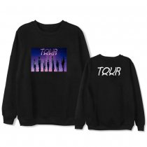 Kpop BTS Sweatshirt Bangtan Boys 2020 Tour Peripheral Round Collar Plus Velvet Thin Top