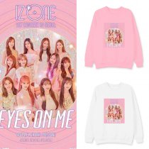 Kpop IZONE EYES ON ME Sweater With The Same Korean Version of The Round Neck Sweater Sweater Loose Jacket