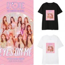 Kpop IZONE EYES ON MET Shirt With The Same Korean Short-sleeved Loose Base Shirt T-shirt Top