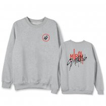 Kpop Stray Kids Sweater HI-STAY Concert Same Round Neck Sweater Plus Velvet Thin Top