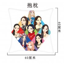 Kpop TWICE Pillowcase Hand-painted New Korean Simple Single Pillow Pillowcase Pillow Sofa Cushion Cover