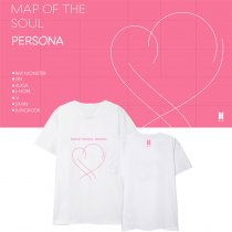 Kpop BTS Bangtan Boys T-shirt MAP OF THE SOUL PERSONA Peripheral Short Sleeve T-Shirt