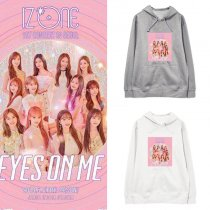 Kpop IZONE EYES ON ME Sweater With The Same Hooded Sweater Korean Hooded Loose Jacket
