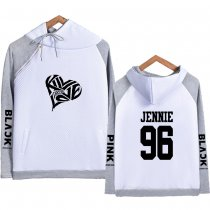 Kpop BLACKPINK Sweater Same Fresh College Style Hooded Sweater Stitching Hoodie JENNIE JISOO LISA ROSE