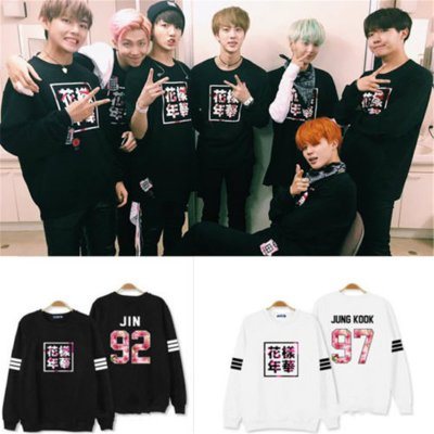ALLKPOPER Kpop BTS In Bloom Run Sweater Jung Kook Hoodie Bangtan Boys Pullover J-hope Suga
