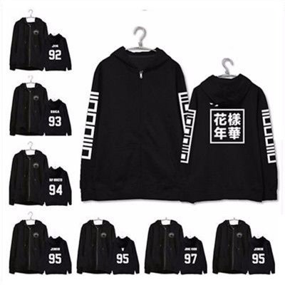 ALLKPOPER KPOP BTS Zipper Hoodie In Bloom Sweater Bangtan Boys Sweatershirt Coat Outwear