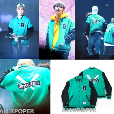 ALLKPOPER Kpop BTS Baseball Uniform Coat ARMY.ZIP+ Varsity Jacket Bangtan Boys